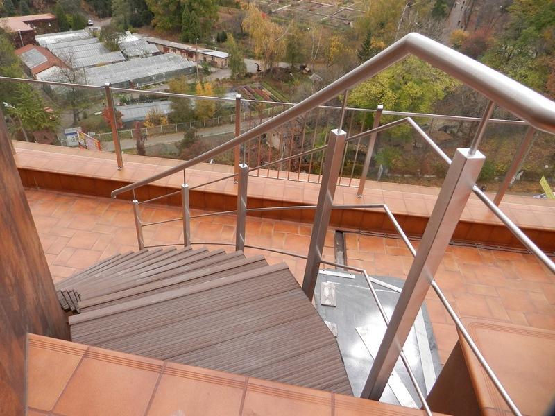 Лестница с террасной доски