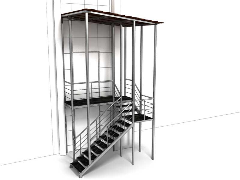Проект входной лестницы на второй этаж