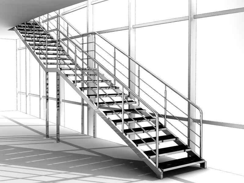 Лестница с камнем