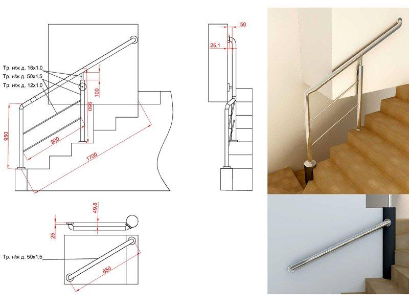 Проектирование ограждений лестницы