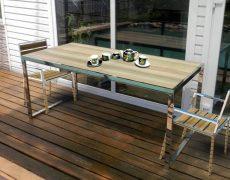 Фото обеденного стола для беседки